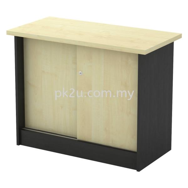 SC-YS-303 - Sliding Door Side Cabinet Side Cabinet (600mm Height) Filing & Storage Johor Bahru, JB, Malaysia Manufacturer, Supplier, Supply   PK Furniture System Sdn Bhd