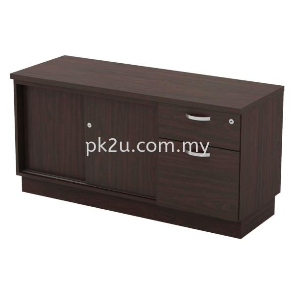 SC-YSP-6122 - Sliding Door + Fixed Pedestal 1D1F Side Cabinet (600mm Height) Filing & Storage Johor Bahru, JB, Malaysia Manufacturer, Supplier, Supply | PK Furniture System Sdn Bhd