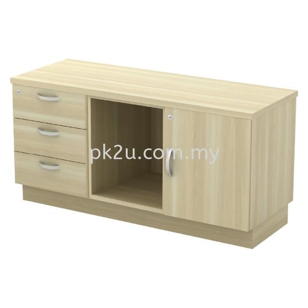 SC-YRP-6123 - Fixed Pedestal 3D + Open Shelf + Swinging Door (L) Side Cabinet (600mm Height) Filing & Storage Johor Bahru, JB, Malaysia Manufacturer, Supplier, Supply   PK Furniture System Sdn Bhd