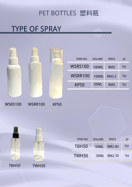 Type of pet bottle PET BOTTLE SERIES Cosmetic Bottle Malaysia, Johor Bahru (JB) Supply Suppliers Supplies | Mee Teck Beauty Sdn. Bhd.