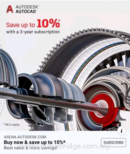 Subscribe Autocad for 3 years and save 10%