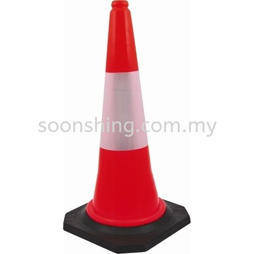 """Safety Cone Black Base 30""""  Safety Cone Safety Items Johor Bahru (JB), Malaysia Supplier, Wholesaler, Exporter, Supply 