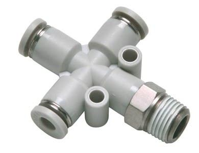 PZB-S Threaded cross PZ Series Stainless SteelOne-touch Fittings Accessories Malaysia, Selangor, Kuala Lumpur (KL), Shah Alam Supplier, Suppliers, Supply, Supplies | AIRTAC INDUSTRIAL (MALAYSIA) SDN BHD