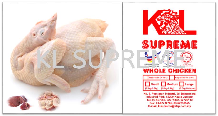 Chicken Standard (have head & feet and liver & gizzard)/È«¼¦(ÓÐÍ·&½Å,Óм¦¸Î&¼¦Õä)/Ayam Tarik Usus (ada kepala & kaki dan hati & pedal) Whole Chicken Chicken Kuala Lumpur (KL), Malaysia, Selangor, Damansara Supplier, Supply, Supplies, Wholesaler | KL Supreme Processing Sdn Bhd