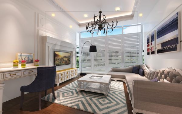 Victorian design for a family area will brings you into a warm & cozy feeling. Family Area White Victorian interior design for Mr. Alex Wong's Semi-D House in Cyberjaya, Malaysia. Shah Alam, Selangor, Kuala Lumpur (KL), Malaysia Service, Interior Design, Construction, Renovation   Lazern Sdn Bhd