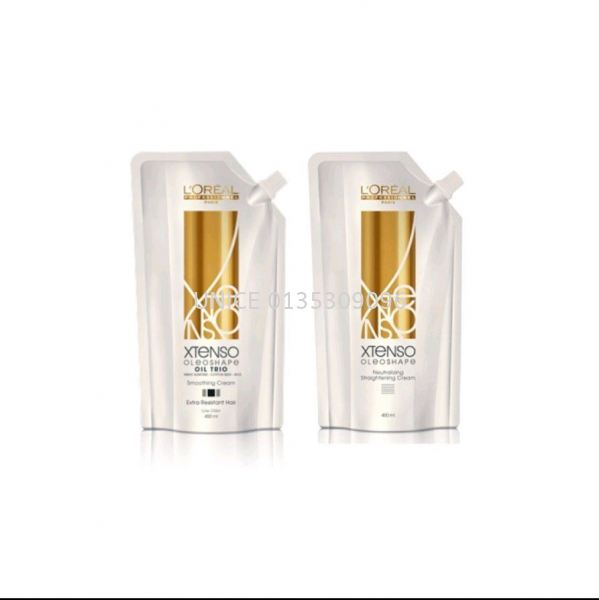 Loreal Xtenso Oleoshape Oil Trio Rebonding Cream (EX) 400ml with Neutraliser REBONDING CREAM HAIR TECHNICAL Johor Bahru JB Malaysia Supplier & Wholesaler   UNICE MARKETING SDN BHD