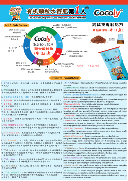 Nutrient Function Details Info Cocoly Plant Nutrition Selangor, Malaysia, Kuala Lumpur (KL), Kajang Supplier, Suppliers, Supply, Supplies | Farmland Solutions Sdn Bhd