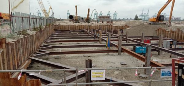 Temporary Sheet Piles Cofferdam for Accident Water Buffering Pool  & Rain Water Tank Sheet Piling Project References Johor Bahru (JB), Malaysia, Ulu Tiram Supplier, Rental, Equipment, Machinery | Ecotrans Construction & Heavy Machinery Sdn Bhd