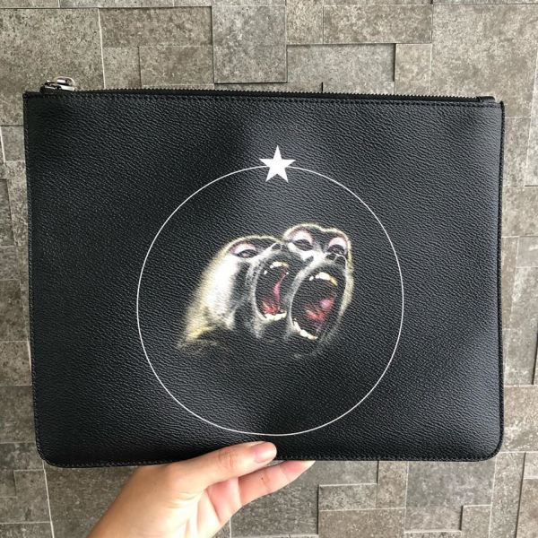 Givenchy Monkey Brothers Large Pouch Givenchy Kuala Lumpur, KL, Selangor, Malaysia. Supplier, Retailer, Supplies, Supply | The Luxury Brand