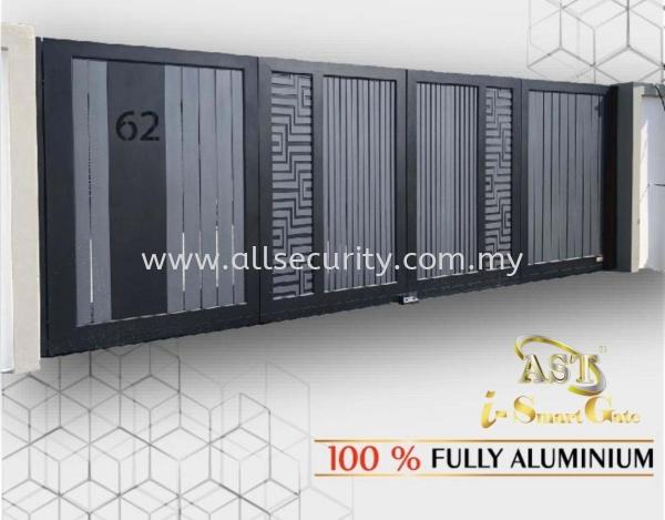 ALUMINIUM TRACKLESS FOLDING GATE Aluminium Trackless Folding Gate Aluminium Gate - i-SmartGate Singapore, Malaysia, Johor, Selangor, Senai Manufacturer, Supplier, Supply, Supplies | AST Automation Pte Ltd