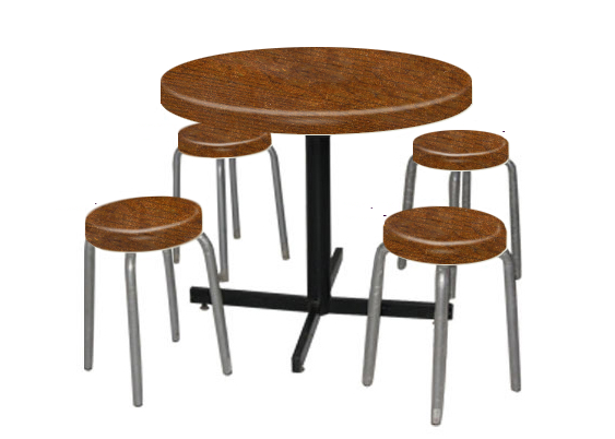 Round Restaurant Table with 4 seats Restaurant Table Malaysia, Johor Bahru (JB), Pontian Manufacturer, Maker, Supplier, Supply | AK Fibre Glass Sdn Bhd