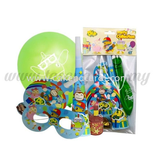 DIDI & Friends Party Pack (5 in 1) (DF-P-5IN1) DIDI & Friends Accessories Malaysia, Selangor, Kuala Lumpur (KL), Kapar Supplier, Delivery, Supply, Supplies   Natural Cake House