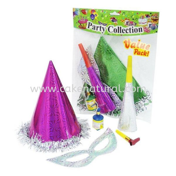 Hat Party Pack -5 in 1 (F-HPP5) Party Pack Accessories Malaysia, Selangor, Kuala Lumpur (KL), Kapar Supplier, Delivery, Supply, Supplies | Natural Cake House