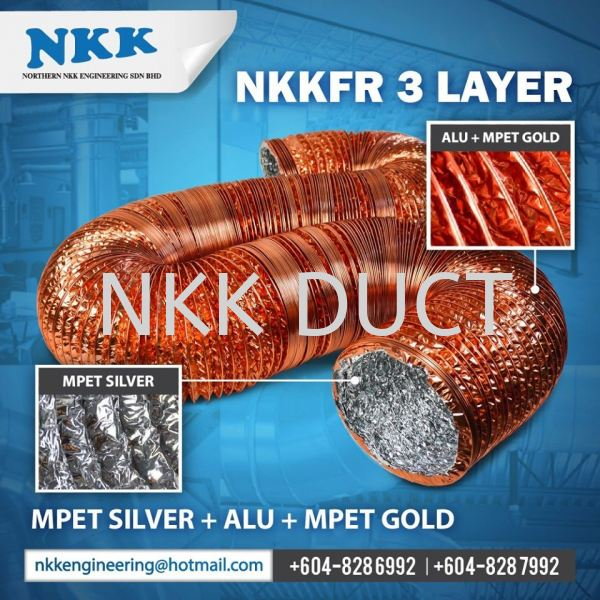 BDD (NKKFR 3 Layer) Aluminium Foil Flexible Duct Malaysia, Penang, Kedah, Singapore, Kuala Lumpur (KL), Selangor Manufacturer, Supplier, Exporter, Distributor | Northern NKK Engineering Sdn Bhd