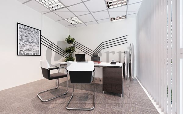 Director's room with simple & minimalist design. Ultra Modern interior design for Kronologi's office in Axiata Tower, KL Sentral, Kuala Lumpur. Malaysia. Shah Alam, Selangor, Kuala Lumpur (KL), Malaysia Service, Interior Design, Construction, Renovation | Lazern Sdn Bhd