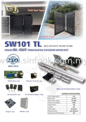 SW101TL TRACKLESS AUTOGATE SYSTEM