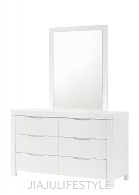Summer 6 Drawers Dresser with Mirror