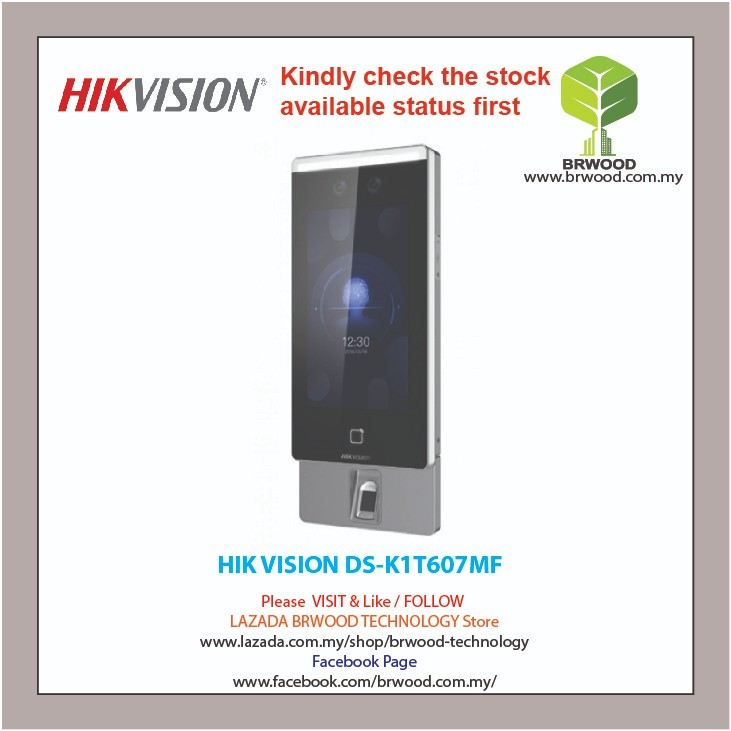 HIK VISION DS-K1T607MF: PRO SERIES WALL-MOUNTED FACE RECOGNITION TERMINAL SUPPORT FINGER PRINT