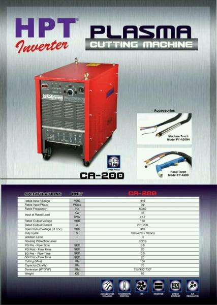 CA-200 HPT Air Plasma Cutting Machine Welding and Cutting Equipment Penang, Malaysia, Butterworth Supplier, Distributor, Supply, Supplies   Weld Power Technology & Machinery Sdn Bhd