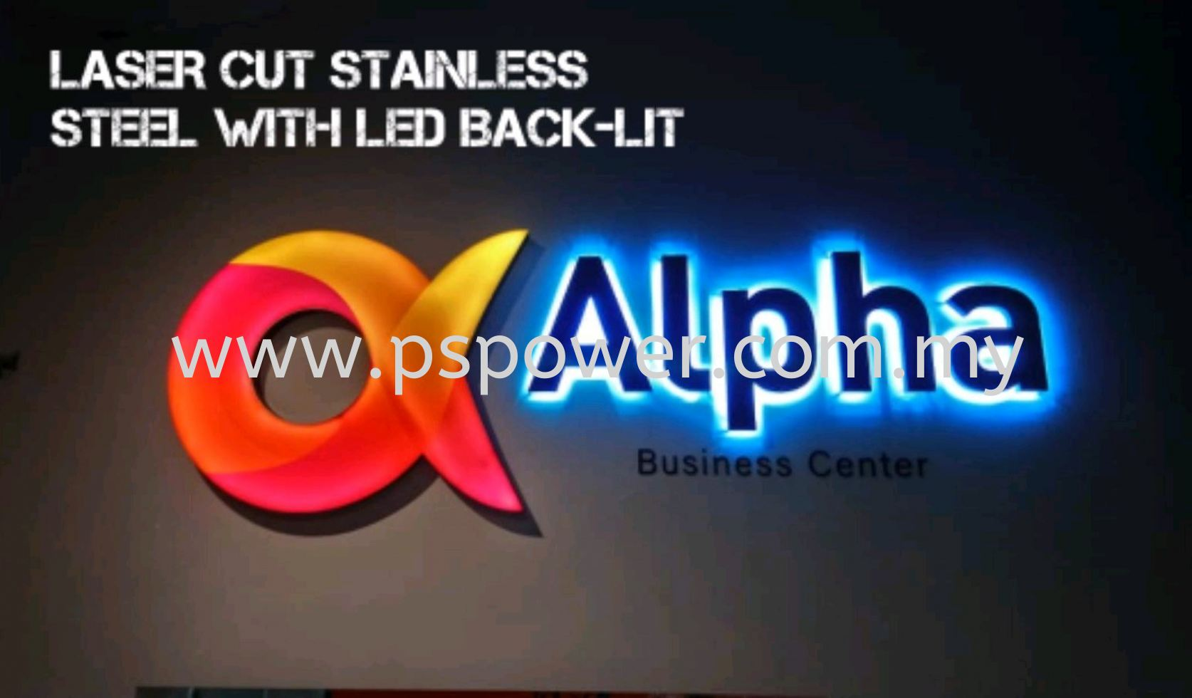 LASER CUT STAINLESS STEEL WITH LED BACK-LIT