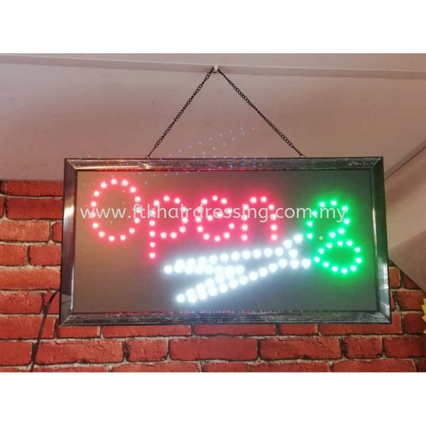 Barber LED plate (OPEN) Barber Pole Malaysia, Pahang Supplier, Suppliers, Supply, Supplies | FTK MAJU TRADING (M) SDN BHD