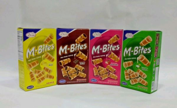 M-Bites ( Mini Wafer Rolls)  Snacks Food & Other Johor, Kulai, Malaysia Supply Supplier Suppliers | NJ Nature Juice Sdn Bhd