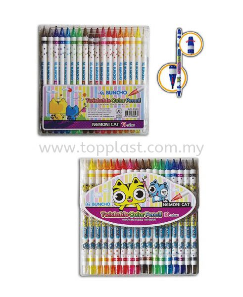 Buncho Twistable Crayon 18colors Buncho Products Penang, Malaysia Supplier, Suppliers, Supply, Supplies | Top Plast Enterprise