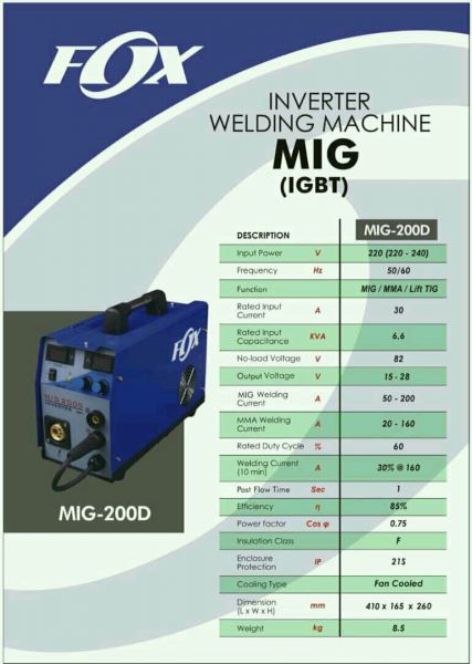 MIG-500EF Power Tech FOX Inverter Mig/mag Welding and Cutting Equipment Penang, Malaysia, Butterworth Supplier, Distributor, Supply, Supplies | Weld Power Technology & Machinery Sdn Bhd