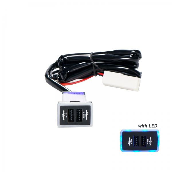 AUTO-HK A717 USB CHARGER W/LIGHT - TOYOTA NEW CAR USB CHARGER Selangor, Malaysia, Kuala Lumpur (KL), Klang Supplier, Suppliers, Supply, Supplies | BEYOND MALL
