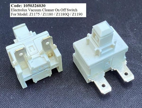 Code: 1050326030 Electrolux Vacuum Cleaner On Off Switch Vacuum Parts Small Appliances Parts Melaka, Malaysia Supplier, Wholesaler, Supply, Supplies | Adison Component Sdn Bhd