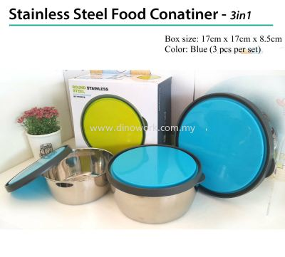Stainless Steel Food Container - 3in1 (Blue)
