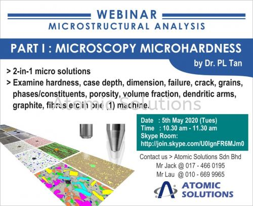 Webminar for Microstructural Analysis - Microscopy Micro Hardness