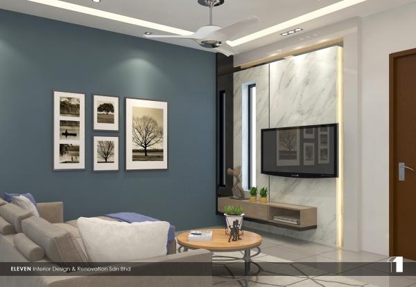 Living Room Design Johor Bahru, JB, Kulai, Johor. Service, Design, Renovation   Eleven Interior Design & Renovation Sdn Bhd