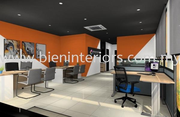 Office Interior Design Artist Impression Kuala Lumpur, KL, Selangor, Gombak, Malaysia. Service, Design, Renovation, Manufacturer | Bien Interiors Sdn Bhd