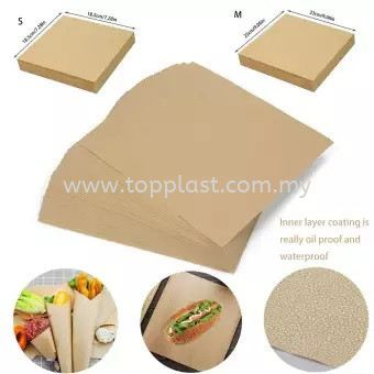 Food Wrap (Kraft Paper) S M L XL Packaging Products Penang, Malaysia Supplier, Suppliers, Supply, Supplies | Top Plast Enterprise