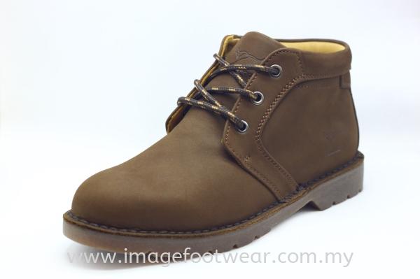 KANGAROO Full Leather Men Mid-Cut Shoe- LM-8493- DARK BROWN Colour Kangaroo Full Leather Men Boots & Shoes Men Classic Leather Boots & Shoes Malaysia, Selangor, Kuala Lumpur (KL) Retailer | IMAGE FOOTWEAR COLLECTION SDN BHD