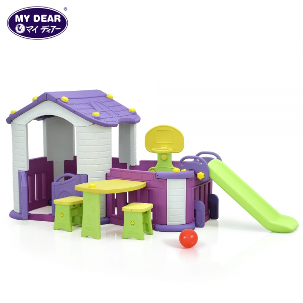 29031 Pink Big House with 3 Play Activities Play House  Playground Indoor  Johor Bahru JB Malaysia Supplier & Supply | I Education Solution