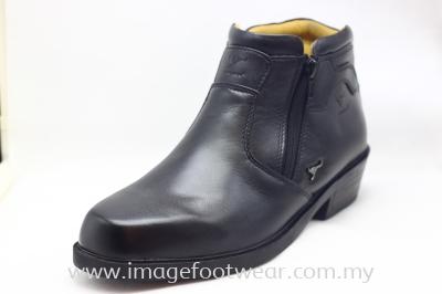 KANGAROO Full Leather Men Mid-Cut Legend- LM-8001- BLACK Colour