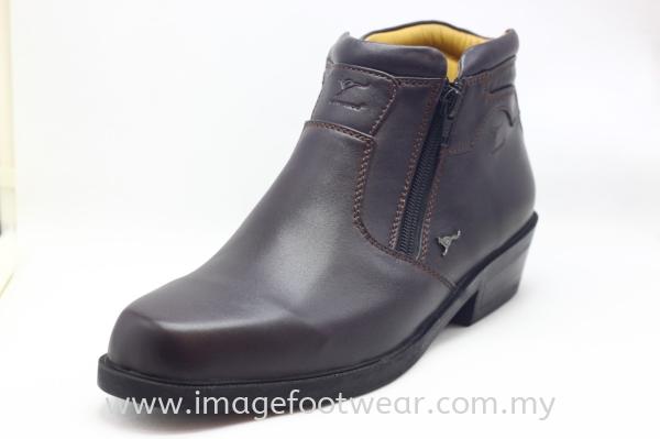 KANGAROO Full Leather Men Mid-Cut Legend- LM-8001- MAROON Colour Kangaroo Full Leather Men Boots & Shoes Men Classic Leather Boots & Shoes Malaysia, Selangor, Kuala Lumpur (KL) Retailer | IMAGE FOOTWEAR COLLECTION SDN BHD
