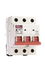 MAXGUARD MB63-1 3P MCB (Miniature Circuit Breaker)