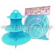 Cup Cake Stand *POLKA DOT BABY BLUE (P-CS-PDBB) Cup Cake Stand Accessories Malaysia, Selangor, Kuala Lumpur (KL), Kapar Supplier, Delivery, Supply, Supplies   Natural Cake House