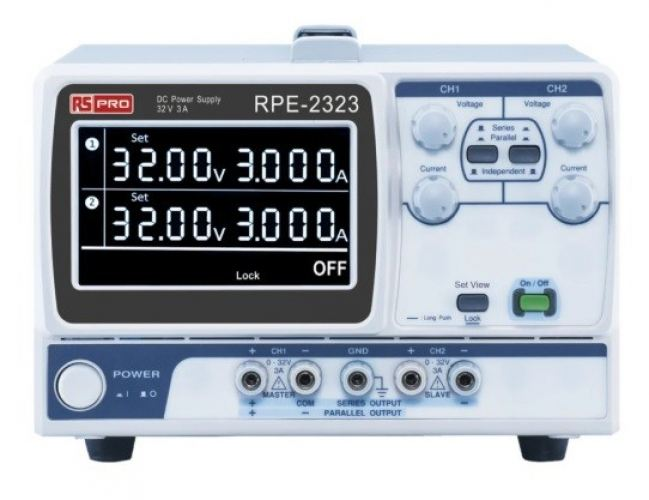 122-5037 - RS PRO Digital Bench Power Supply 192W, 2 Output 0 → 30V 3A
