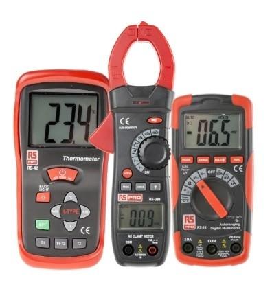 144-6601 - RS PRO RS14 Digital Multimeter, RS380 Clampmeter, RS42 Digital Thermometer Multimeter Kit