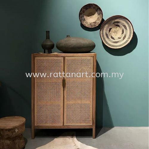 RATTAN SHOES CABINET JAVA