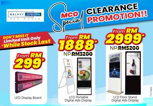 MCO SPECIAL CLEARANCE PROMOTION‼️