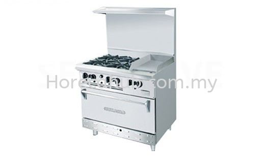 STAINLESS STEEL COMBINATION OPEN BURNER GRIDDLE WITH OVEN ( OB4GG1BWOH) OVEN STOVE Johor Bahru (JB), Malaysia Supplier, Suppliers, Supply, Supplies | HORECA HUB