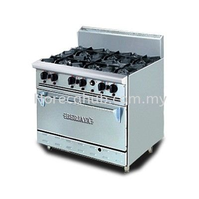STAINLESS STEEL DELUXE RANGE OVEN WITH OPEN BURNER (DRO6L) OVEN STOVE Johor Bahru (JB), Malaysia Supplier, Suppliers, Supply, Supplies | HORECA HUB