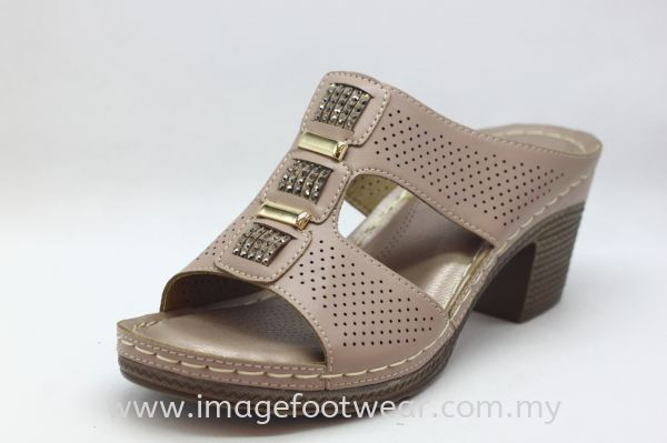 Lady Wider & Comfort Slipper- TF- 91111-7- PINK Colour Ladies Wider & Comfort Shoes  Ladies Shoes Malaysia, Selangor, Kuala Lumpur (KL) Retailer   IMAGE FOOTWEAR COLLECTION SDN BHD