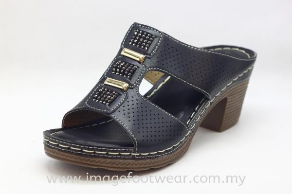 Lady Wider & Comfort Slipper- TF- 91111-7- BLACK Colour Ladies Wider & Comfort Shoes  Ladies Shoes Malaysia, Selangor, Kuala Lumpur (KL) Retailer   IMAGE FOOTWEAR COLLECTION SDN BHD