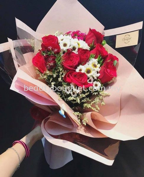 Mix roses and chamomile  2020 Special(2020特别花束) Kuala Lumpur, KL, Selangor, Malaysia. Suppliers, Supplies, Supplier, Supply | Beauty Bouquet Florist `N`Gifts
